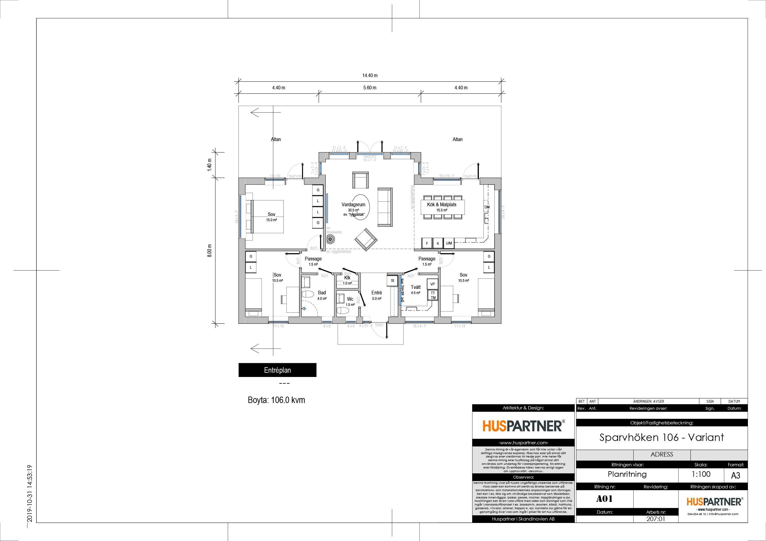Planlösning för Sparvhöken 106 variant